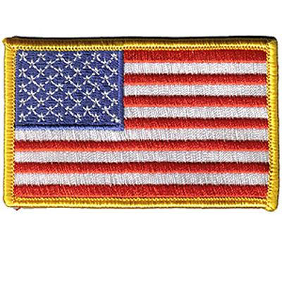 House Brand USA Flag - Gold Border Patch